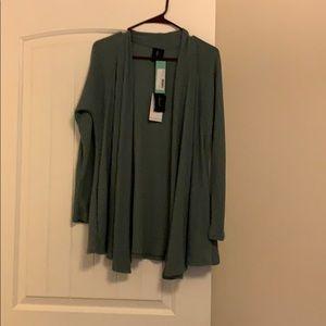 Long sleeve cardigan light blue/green